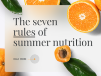 Seven rules of summer nutrition
