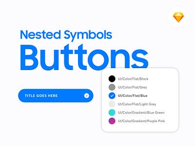 Nested Symbols: Buttons Sketch Library uds modular design responsive symbols uversadesignsystem download download for free system design ui buttons button sketchapp sketch designsystem