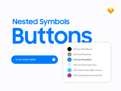 Nested Symbols: Buttons Sketch Library