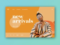 Fashion Website Landing Concept