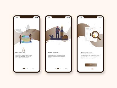 For Coffee Lovers onboarding screen sketch mobile app design product design mobile app ux ui design