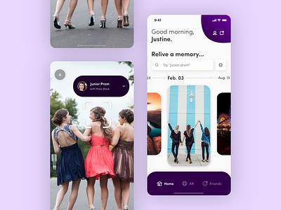 Daily UI 003: Landing Page augmented reality memory app dailyui 003 ux app ui sketch product design design mobile app landing page mobile