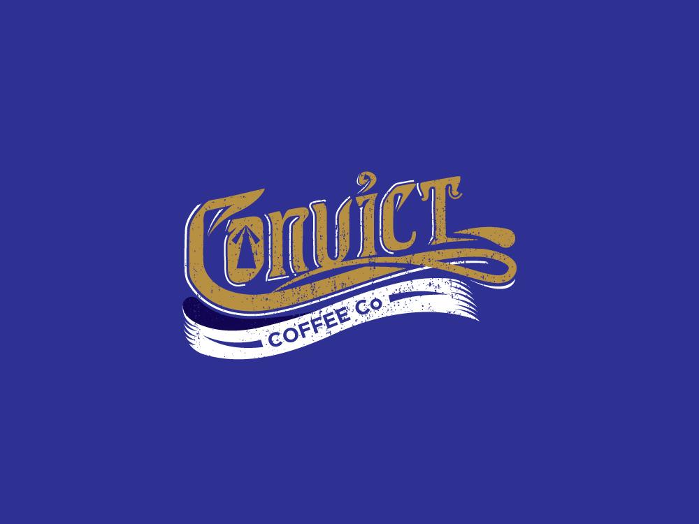 Convict Coffee Co wordmark ui ux vector logomark typography logo esolzlogodesign esolz