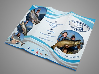 Nicky Boy Charters fishing branding esolz graphic design brochure