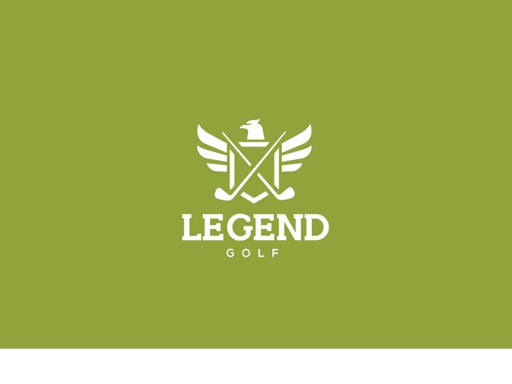 Legend Golf icon illustration logomark identity design esolzlogodesign branding logo legend golf