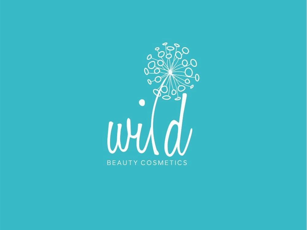 Wild Beauty Cosmatics simple icon logomark logo identity esolzlogodesign design branding illustration