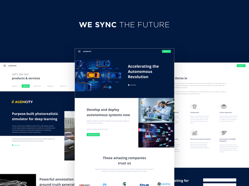 AgenSync - We Sync The Future images button sections app icons dailyui website landing page intelligence artificial ai snapshot