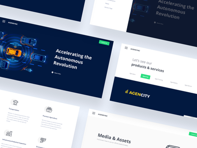 AgenSync - Wide Screen Snapshot menu screen images button sections app icons dailyui website landing page intelligence artificial ai snapshot