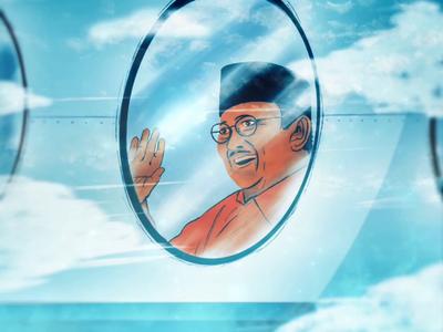 Farewell 3rd President of Indonesia B. J. Habibie
