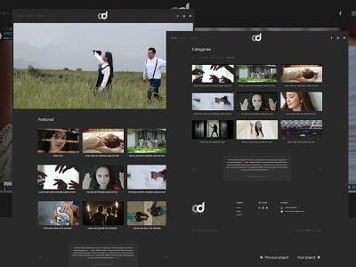 Chrisduco Films - Filmmaker website design filmmaker portfolio dark ui dark theme wordpress development adobe xd