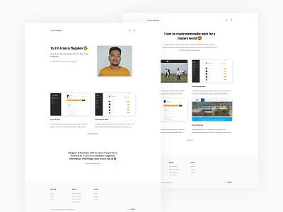 Front-end Developer Portfolio prismic vuejs front-end developer personal website minimalist clean design online portfolio portfolio front-end development adobe xd uiux
