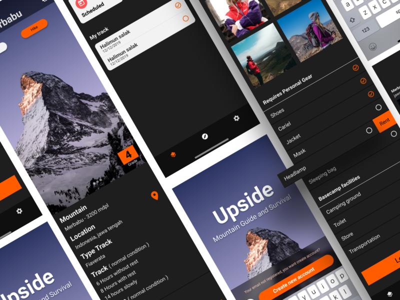 apps upside design ui  ux ux design ux ui design figma ui application app design app