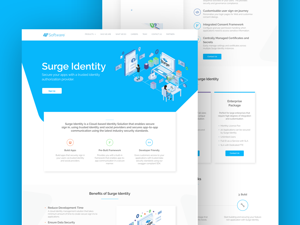 Surge Identity Product Page by OneNebula | Dribbble | Dribbble