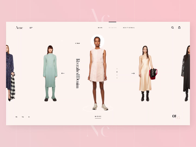 Acne Studios - Catalog and Product card visual purpel page light fashion dribbble clothes store shop studio photo typographic clean white minimalism motion graphic ux ui web