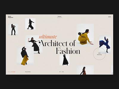 Metal Magazine - Collection page beige black dark photography page collection magazine typography animation motion branding white minimalism graphic design web ux ui