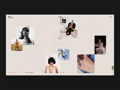 Metal Magazine - Photo Gallery gallery page typography photo magazine clean white minimalism animation design branding graphic motion web ux ui