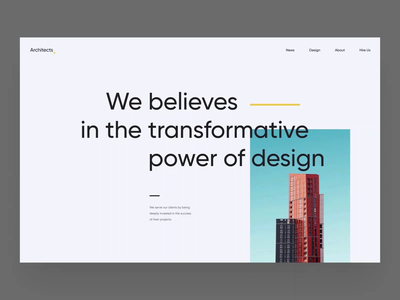 Architects — 001 scroll photo picture clean black architecture grey white minimalism animation design motion branding graphic web ux ui