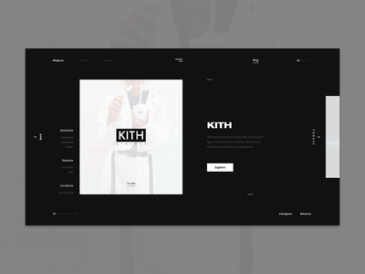 Switch Digital Studio - Projects page digital studio page desktop project clean photo minimalism minimal black dark white site online ux ui design motion graphic web