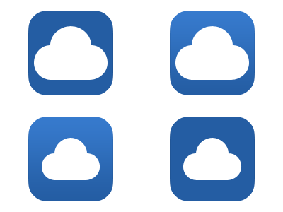 With which app icon I should go? app app icon icon design app development flat design ios 7 cloudie
