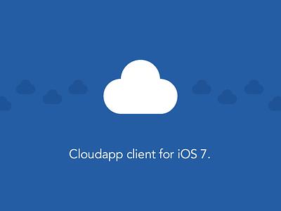 Hello Cloudie. cloudapp client ios 7 ios app app store ux design ui design icon design