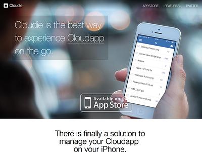 Cloudie Website @2x!!! web design web ux design landing page app design app launch