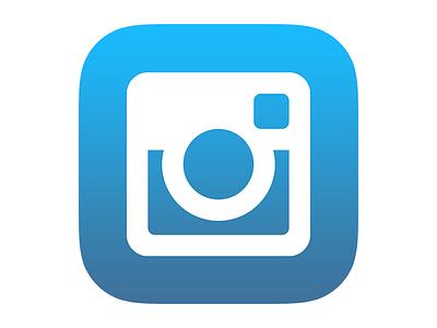 Instagram Icon for iOS 7 instagram ios 7 app icon icon design flat design