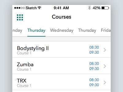 Concept Gym App app ios ux ui ux design ui design switcher sketch