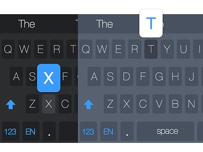 Dark and Light iOS 8 Keyboard Theme ios ios8 keyboard keyboard design ux ux design ui design dark light theme