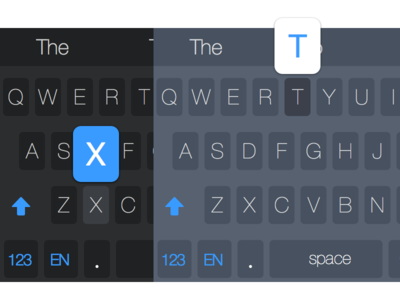 Dark and Light iOS 8 Keyboard Theme ios ios8 keyboard keyboard design ux ux design ui design dark light theme