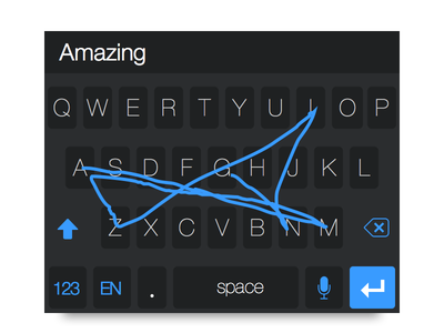 iOS 8 Keyboard with Swype ios 8 ios keyboard extension ux ui design