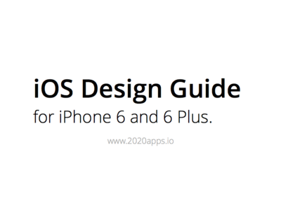 iOS Design Guide for iPhone 6 and 6 Plus iphone 6 6 6 plus ios design user interface