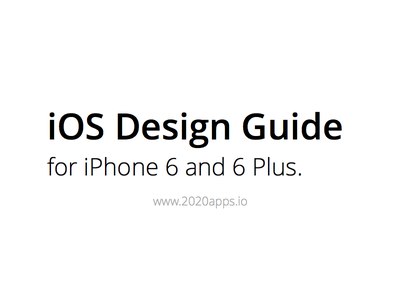 iOS Design Guide for iPhone 6 and 6 Plus iphone 6 6 6 plus ios design user interface