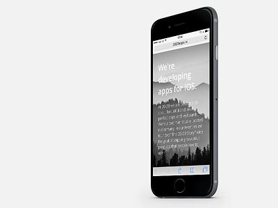 2020apps Responsive Website iPhone 6 iphone 6 ui ui design web design flat minimal startup website