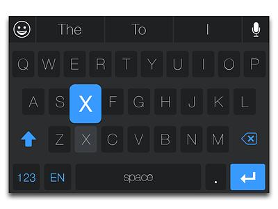 iOS 8 Keyboard - New positioning for Siri and Emojis ui ui design ux ux design keyboard dark light ios 8 ios8 keyboard design keyboard theme