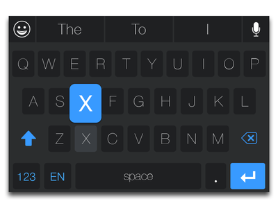 iOS 8 Keyboard - New positioning for Siri and Emojis ui ui design ux ux design keyboard dark light ios 8 ios8 keyboard design keyboard theme