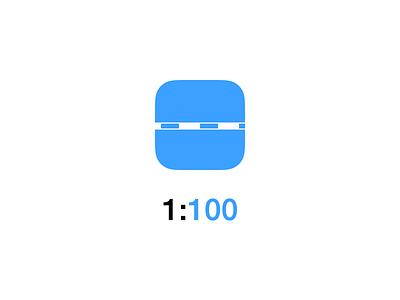 1:100 App Icon app app icon icon design ios 7 architecture scale
