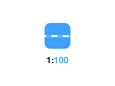 1:100 App Icon app app icon icon design ios 7 architecture scale