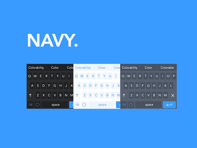 NAVY Keyboards available NOW! keyboard ios 8 keyboard ios 8 ux design shift key development