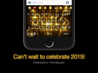 2015 Keyboard theme @Themeboard themeboard theme keyboard ios 8 ios 8 extension new year 2015