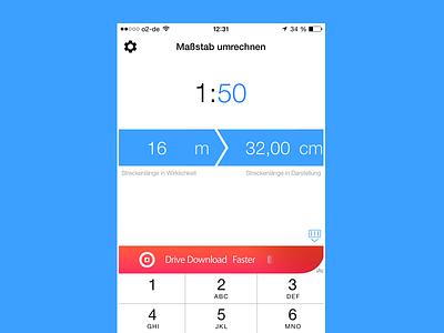 1:100 Interface Design app converter ui design ux design interface design ios 8 construction plan plan architect