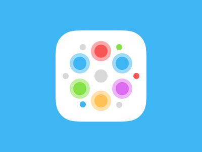 Puzzle Game – App Icon Concept app icon icon design puzzle game ux design blue red green yellow purple colorful