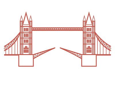 Tower Bridge Illustration london tower bridge print design poster graphic art graphic illustration
