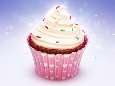 Cupcake Icon cream cake birthday heart glaze cupcake gift cup candy chocolate