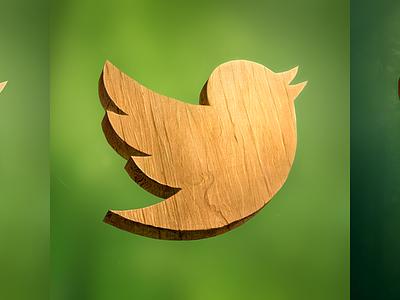 Wood Twitter Icon wood twitter icon illustration bird