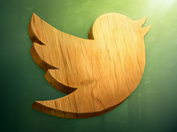 Wood Twitter Icon