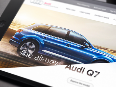Audi Website Concept product car design concept website audi