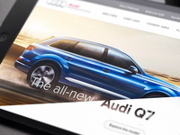 Audi Website Concept