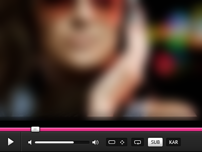 Video player redesign player video ui pink