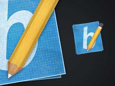 Pencil Icon pencil blue print texture
