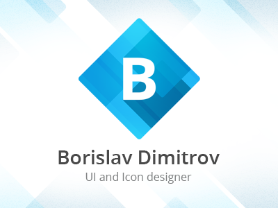 New Logo/Branding (concept) logo branding borislav dimitrov clean modern